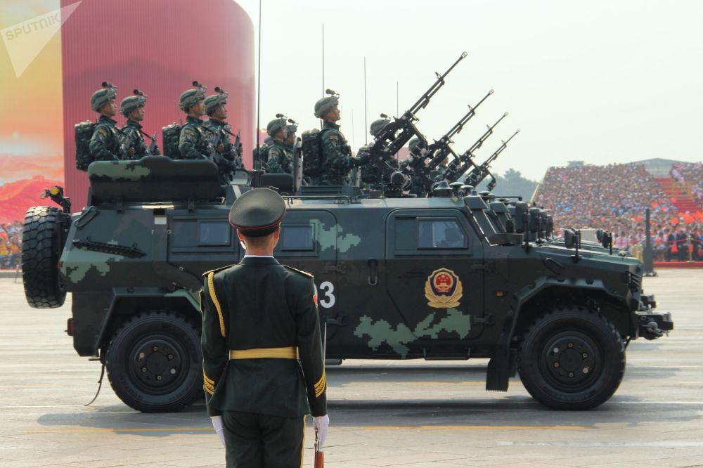 参加中国70周年国庆阅兵的人民武装警察