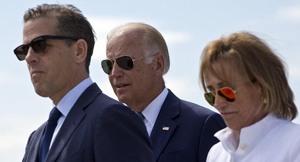 美国副总统乔·拜登与儿子亨特·拜登和妹妹瓦莱丽·拜登