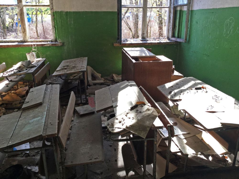 波列斯基輻射生態保護區內廢棄的學校