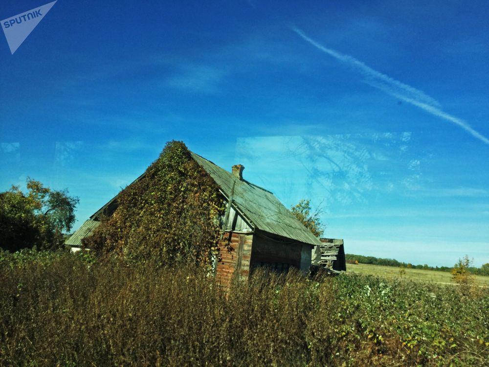 波列斯基輻射生態區內被疏散村莊的房子