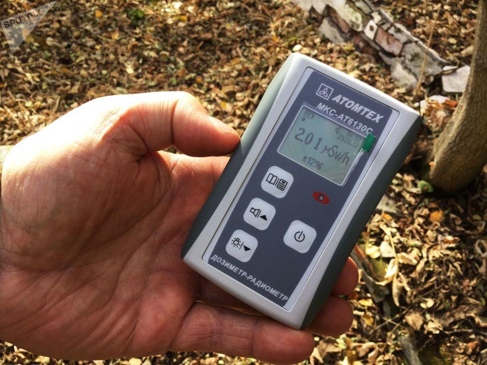 波列斯基輻射生態區內工作人員手中的劑量計