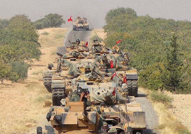 土耳其空军空袭叙利亚北部城市艾因角