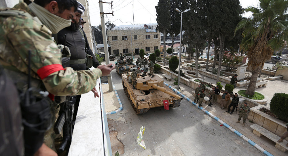 土军轰炸叙利亚东北曼苏尔大坝
