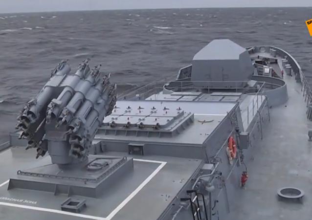 俄潛艇在黑海發射口徑導彈