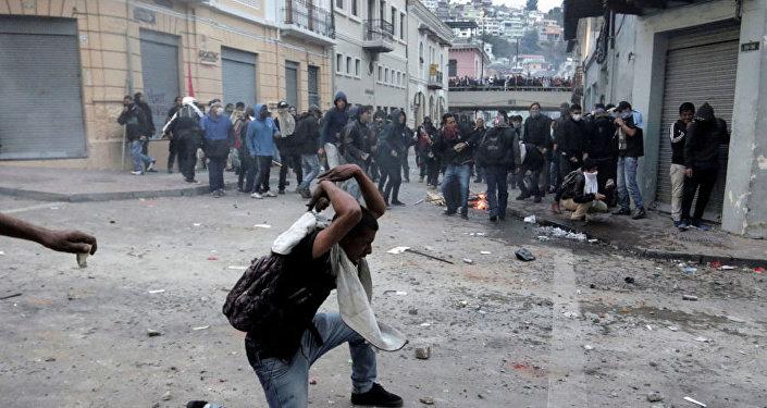 厄瓜多尔总统宣布对首都实施宵禁和军事管制