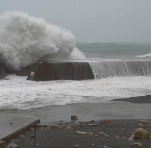 超強颱風「海貝思」襲擊日本已致1死5傷