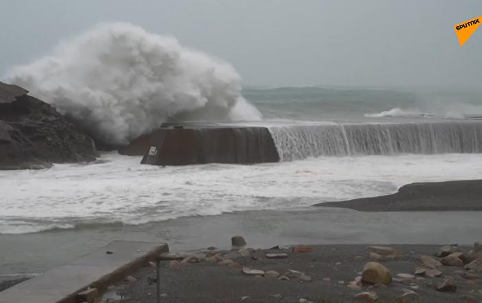"""超强台风""""海贝思""""袭击日本已致1死5伤"""