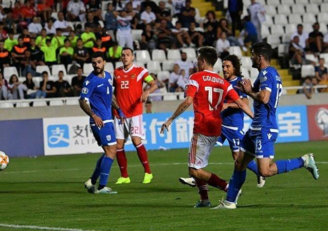 俄罗斯队以5:0的比分击败塞浦路斯队