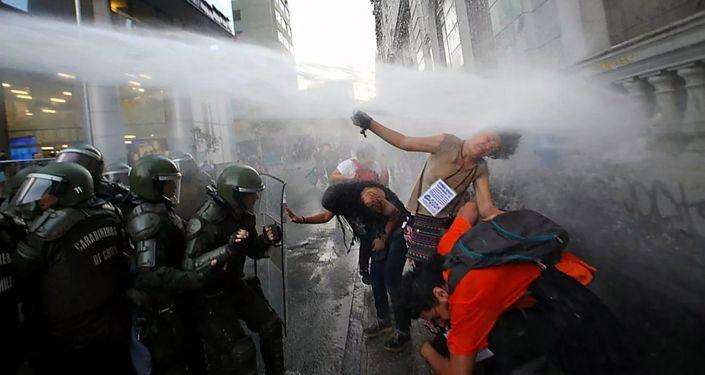 智利抗議活動 (資料圖片)