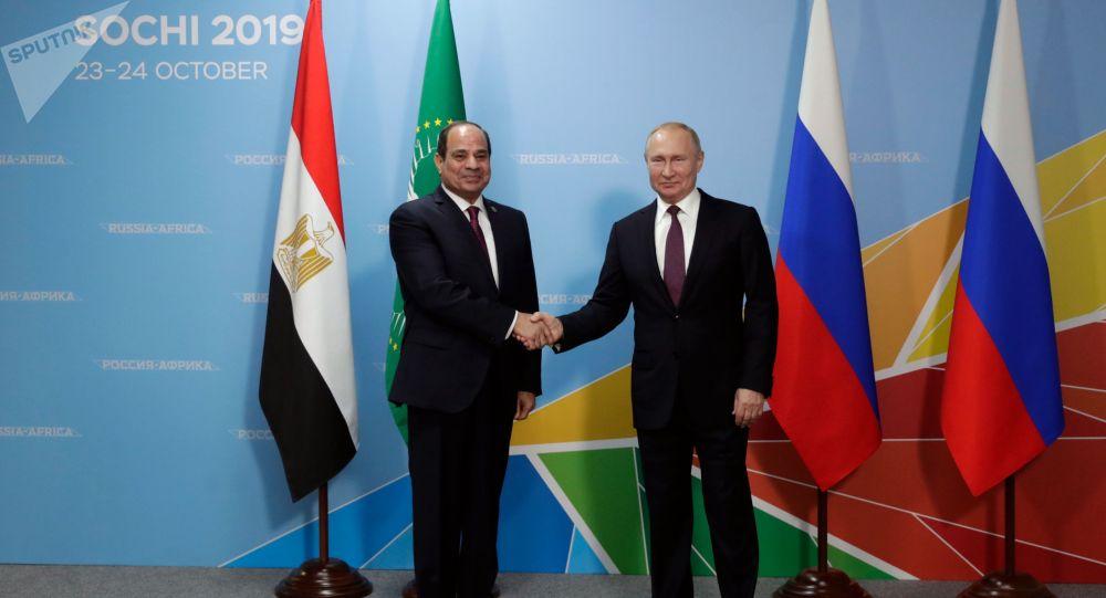 俄罗斯总统普京(右)和埃及总统塞西