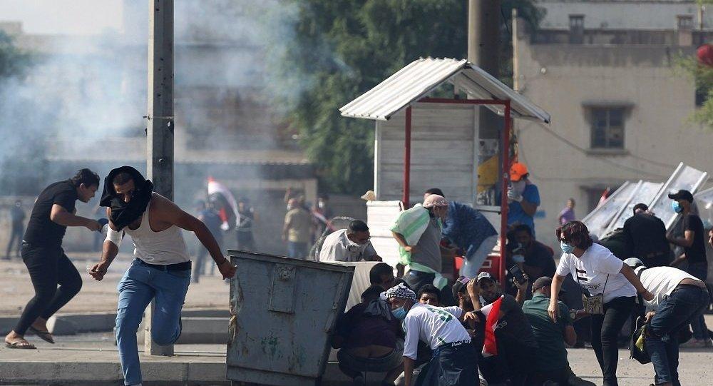 消息人士:过去24小时内伊拉克有十人在示威活动中丧生