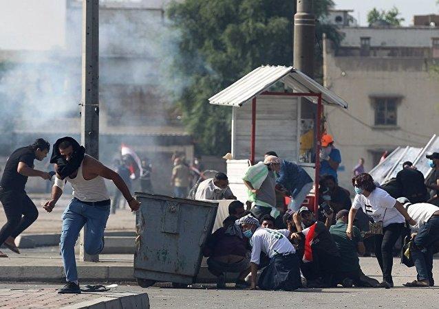 伊拉克警方向巴格達市中心示威人群開火致人死亡