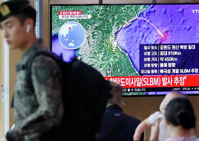 朝鲜发射的不明飞行器可能为超大型火箭炮或新型地对地战术导弹