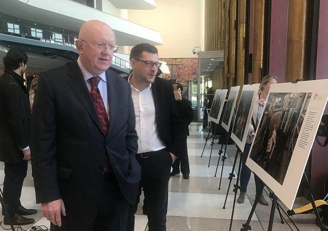 安德烈·斯捷寧國際攝影大賽獲獎者的作品展在位於紐約的聯合國總部開幕