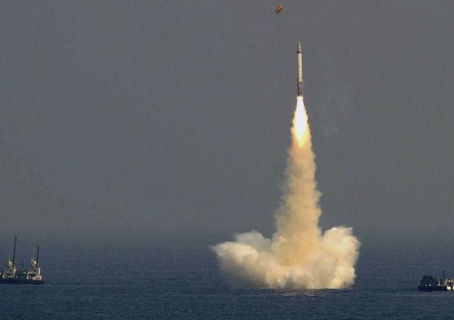 印度將於8日試射能攜載核彈頭的К-4潛射彈道導彈