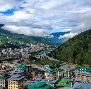 不丹村野美景