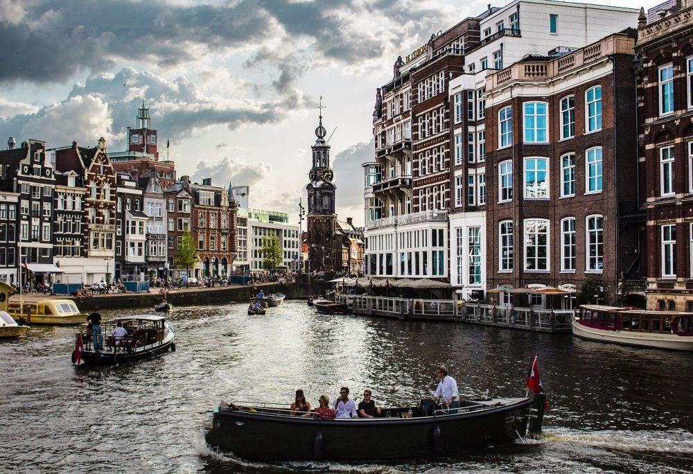 阿姆斯特丹运河美景