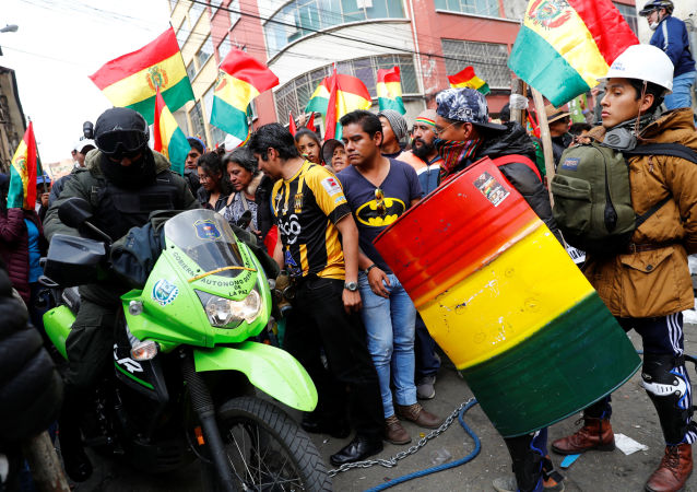 玻利維亞抗議者