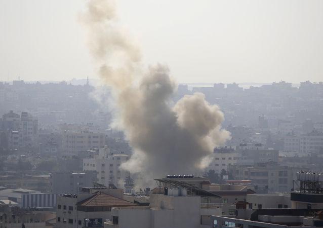 以色列稱打擊加沙目標為回應來自該地的火箭彈攻