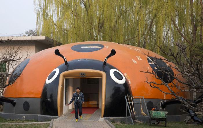 北京的瓢蟲形狀廁所