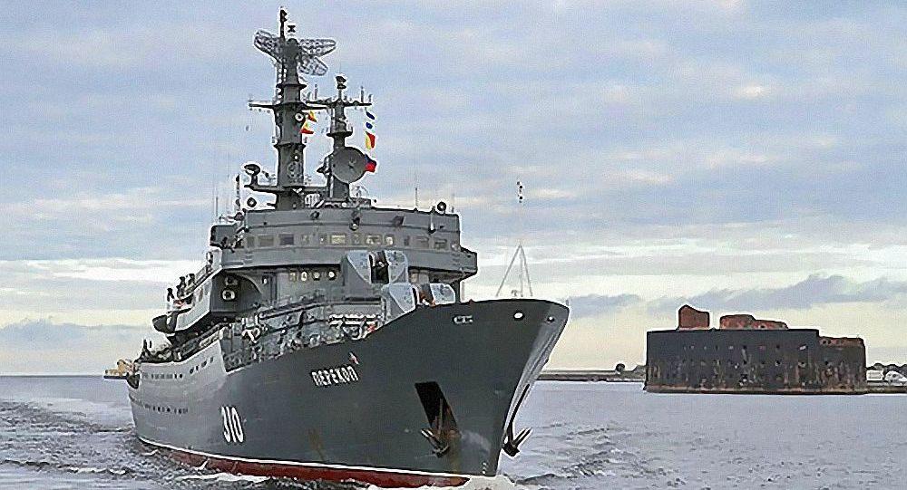 """俄波罗的海舰队训练船""""Perekop""""抵达斯里兰卡"""