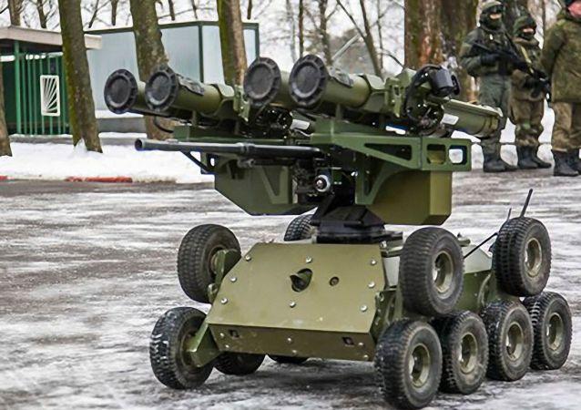 """俄军的""""昆加斯""""(Kungas)机器人"""