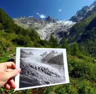 災難前兆:阿爾卑斯山的冰川融化