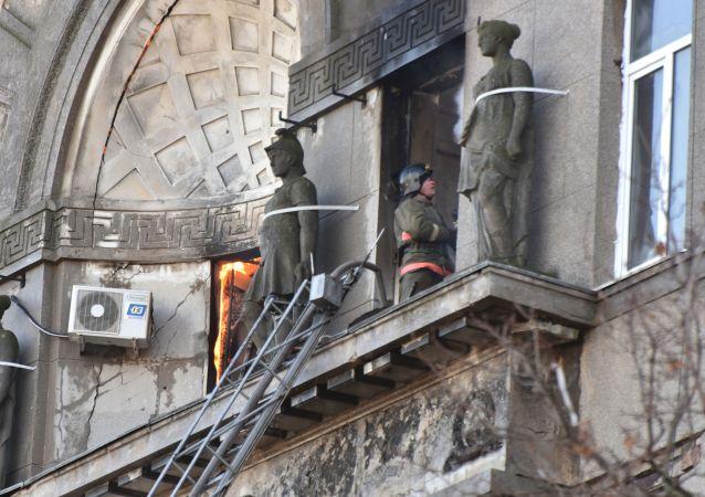 媒體:烏克蘭敖德薩火災遇難者增至2人